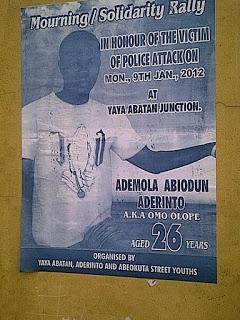 """IMMORTALIZE MY SON"", says Pa E.A. Aderinto"