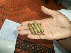 expended ak 47 bullets